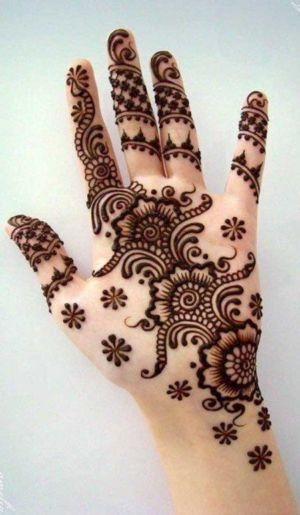 Pakistani Mehndi Designs one hand