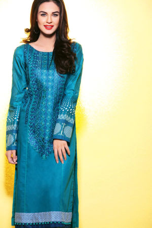 Blue Embroidered Lawn SL-211