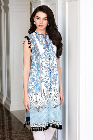 Blue Embroidered Lawn SL-233 B