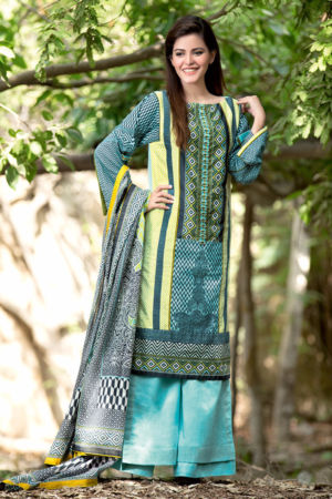 Blue Printed Lawn CL-131 A