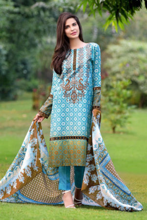Ferozi Embroidered Lawn CL-128 B