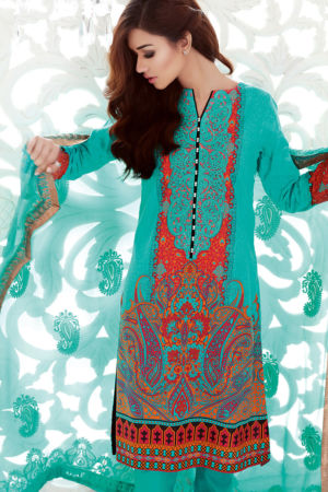 Ferozi Premium Embroidered Chiffon PM-122