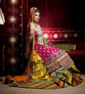 new-and-latest-bridal-mahndi-dresses-2014-15-for-girls (1)