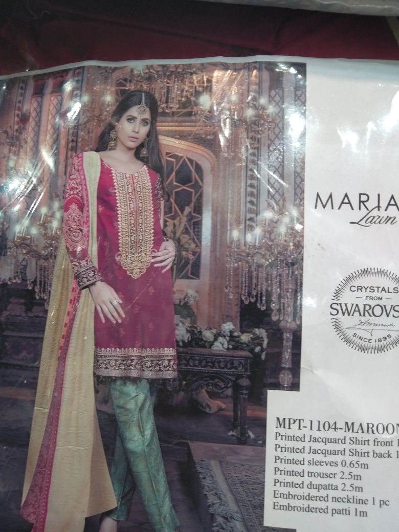5aa6e7bd0a Mastorat Unstitched yellwo and red Lawn Embroidered 3PC Unstitched Suit