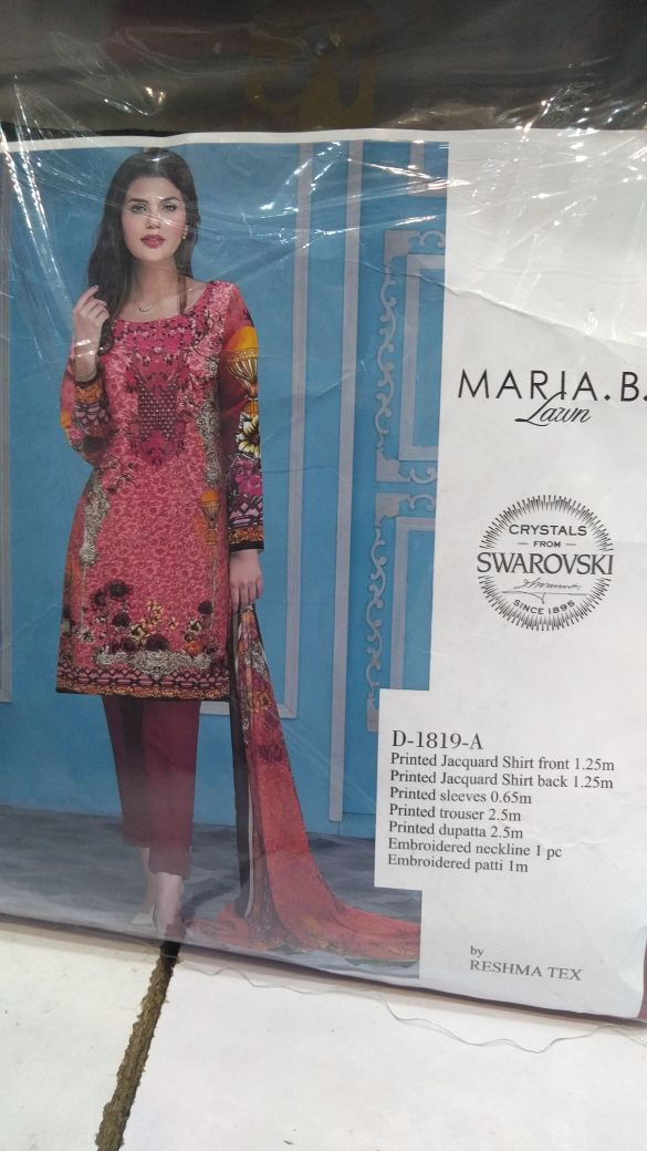 ff407d8add Mastorat Unstitched Red and brown Lawn Embroidered 3PC Unstitched Suit
