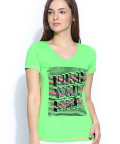 ONLY PLAY Green Printed T-shirt